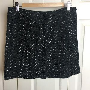 The Limited Black and White Tweed mini skirt